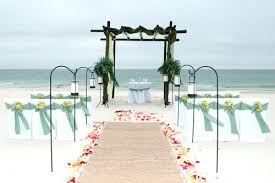 Simple Beach Wedding Decor Ceremony Decorations