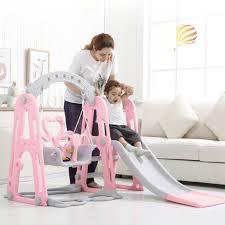 kinder rutsche und schaukel kombination kinder indoor spielplatz kindergarten baby outdoor kunststoff multifunktionale rutsche schaukel spielzeug 3