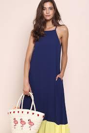 premium capri maxi dress navy shopperboard