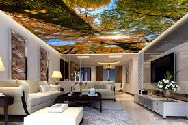 100 Brick Ceiling Wallpaper Wall 3d Jungle Forest Looking Up Sky Top