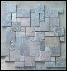 decorative floor tile medallions mix color slate