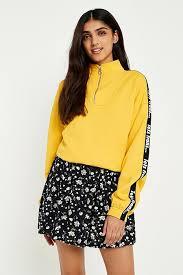 Urban Renewal Vintage Remnants Black Ditzy Floral Button Through Mini Skirt