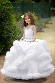 flower girl dress purple lace floor length pageant dress wedding party