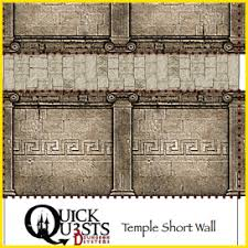quests temple wall set 3d dungeon tiles and maps for dungeons and