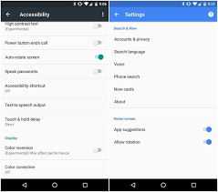 How to change Android auto rotate settings