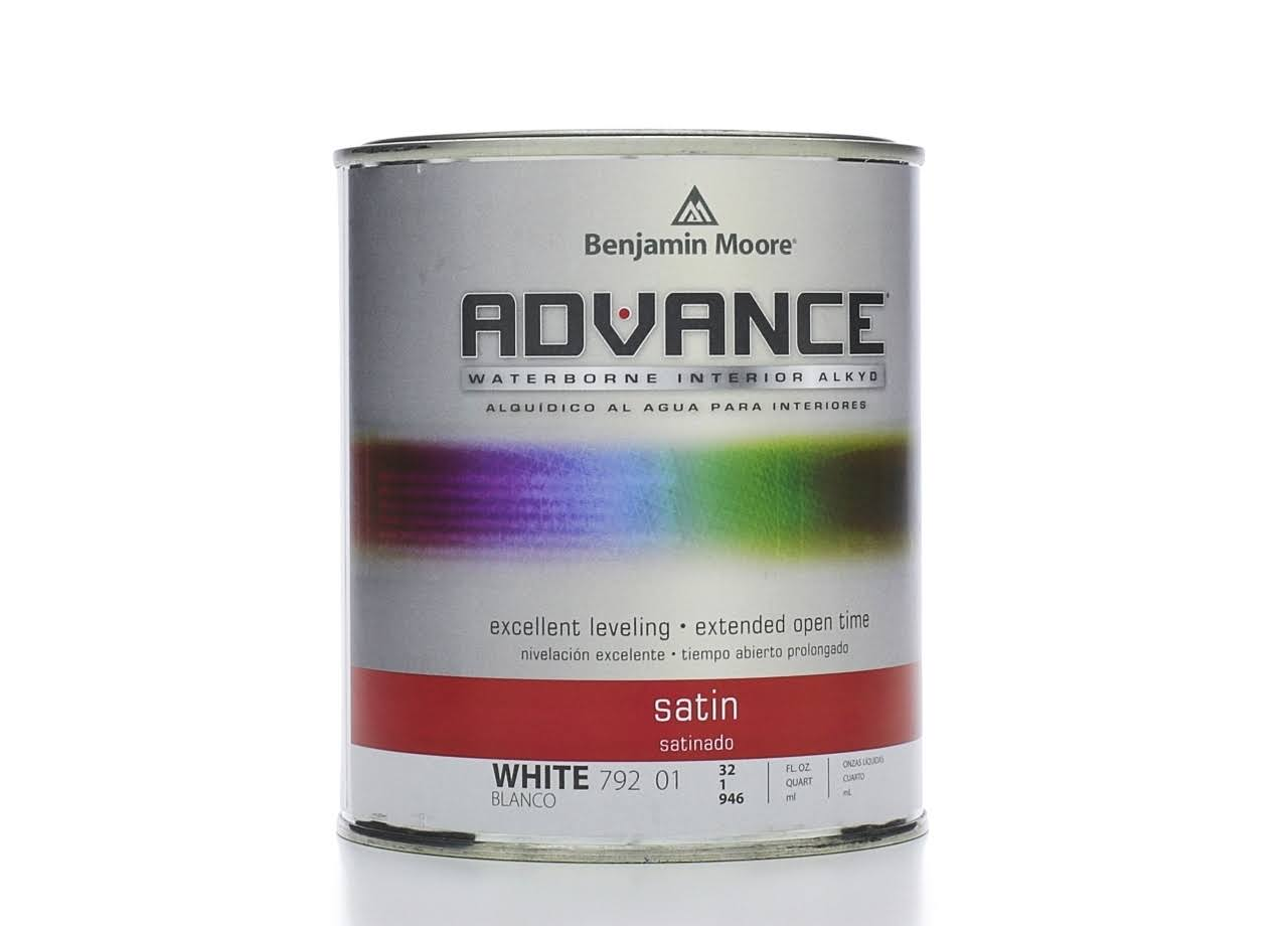 Benjamin Moore Advance Interior Paint- Satin (0792) Quart / White