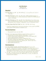 Resume Examples Ubc Packed With Med Nursing Templates Nurse Samples