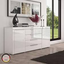 highboard sideboard kommode schrank möbel hochglanz weiß 167