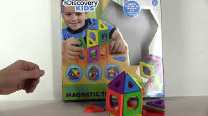 discovery kids magnetic tile set 24 piece set unboxing review