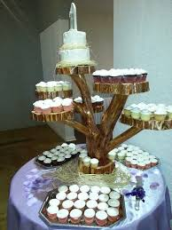 Large Log Elm Wood Rustic Cake 90 Cupcakes Pie Stand Wedding Party Shower Wooden 7 Tier Collapsible Lumberjack Wild Things Are Boho