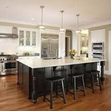 hickory kitchen cabinets with black island traditional kitchen