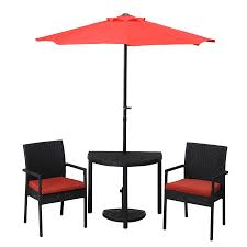 Semi Circle Patio Furniture by Shop Sunjoy 21 5 In W X 33 5 In L Half Circle Steel Bistro Table