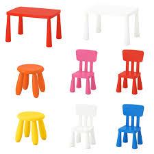 ikea mammut kinder tisch stuhl hocker set rosa blau garten