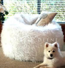 Giant Fluffy Bean Bag Furry White Fur