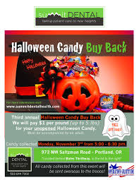 Donate Leftover Halloween Candy To Our Troops by Social Summit Dental