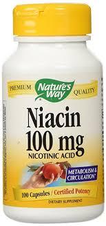 Amazon Niacin 100mg 100 Capsules Health & Personal Care
