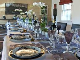 Elegant Christmas Table Settings Ideas Simple Blue Dining Decoration Home Interior Decor