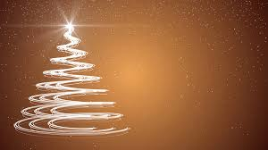 Gold Christmas Tree Xmas Holiday Celebration Winter Snow Animation Background Motion