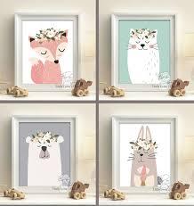Woodland Creatures Nursery Bedding by Woodland Animals Print Set Set Of 6 Prints Racoon Owl Fox
