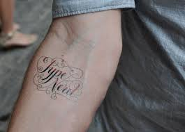 Type Nerd Tattly Temporary Tattoo Designed By Jessica Hische
