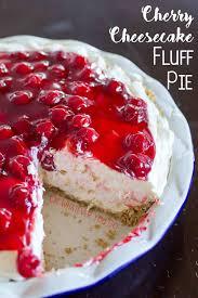 No Bake Cherry Cheesecake Fluff Pie