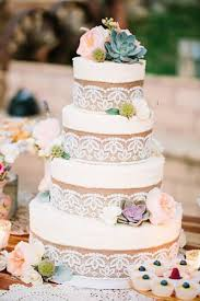 Burlap And Lace Rustic Wedding Cakes For Fall