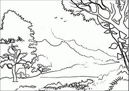 Enjoyable Landscape Coloring Pages Image 11
