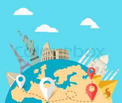 Stock Vector Of World Adventure Travel Relaxation Journey Leisure Rest Tourism Statue