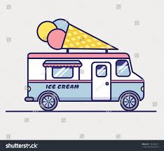 100 Mobile Retail Truck Ice Cream Isolated On White Stock Vector Royalty Free