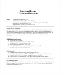 Resume Professional Summary For Resumes Examples Example Simple Consequently Abstract Pdf
