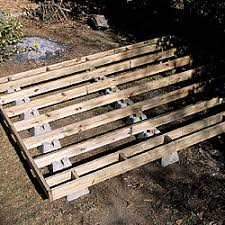 Floor Joist Spacing Shed a firm foundation for a backyard shed fine homebuilding