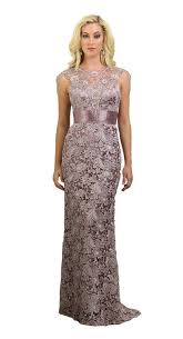 long lace mother of the bride dress 2018 neckline sequins and
