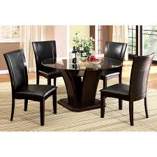 5 Piece Formal Dining Room Sets by Furniture Of America Lavelle 5 Piece Glass Top Dining Set Dark