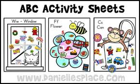 ABC Activity Sheets From Daniellesplace
