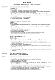 Download Technologist Medical Resume Sample As Image File