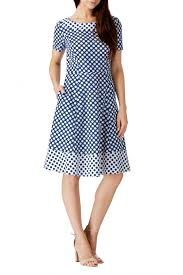 sugarhill boutique lyda contrast polka dot dress clothing from