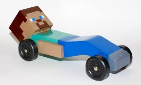 So My Son Wanted A Minecraft Pinewood Derby Car This Year