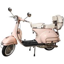 Fully Restored 1963 Pink With White Leather Vintage Italian Piaggio Vespa For Sale