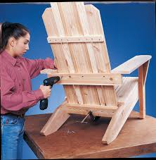 Wood Captains Chair Plans by Build An Adirondack Chair With Plans Diy Black Decker