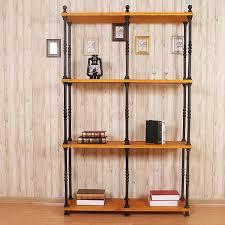 Ju Ho American Casual Retro Household Iron Wood Clapboard Shelves Creative Product Display Racks