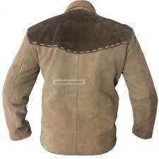kfire men u0027s western leather jacket brown with dark brown patch ebay