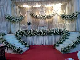 Simple Wedding Stage Decoration Ideas Western 11102 Golden Decorations