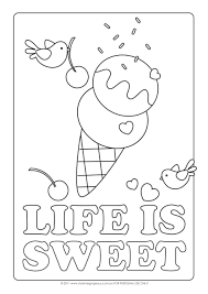Ice Cream Cone Coloring Pages To Print Truck Sheet Ideas Children Large Size