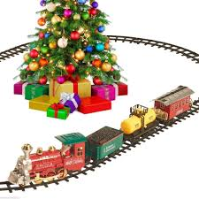 Christmas Train Set Around The Tree Holiday Santa Express Toy