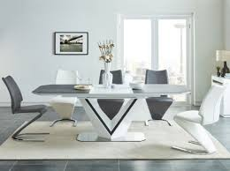 casa padrino designer dining table white gray silver 160 220 x 90 x h 76 cm extendable dining room table with ceramic plates dining room