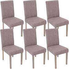 mendler 6x esszimmerstuhl littau stuhl küchenstuhl textil grau beine struktur eiche