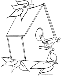 Free Printable Bird House Coloring Sheets