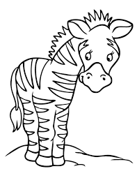 Kids Preschool Coloring Pages Zebra