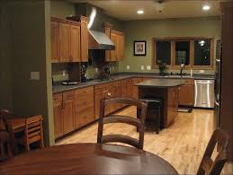 Kitchen Paint Colors With Golden Oak Cabinets by Kitchen White Cabinets Black Countertop Kitchen With Black