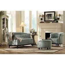 Home Decorators Collection Gordon Tufted Sofa by Home Decorators Collection Emma Sea Green Velvet Sofa 0846900610